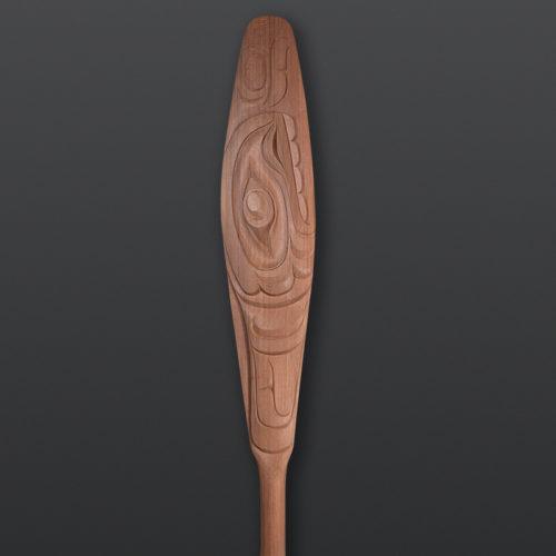 Whale Paddle Raymond Shaw Kwakwaka'wakw Red cedar 66 x 6½ 3200 orca northwest coast native art contemporary