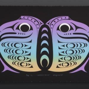 "Kelly Cannell Coast Salish Guardians of the Sky Serigraph, C/P 28"" x 18"" $400"