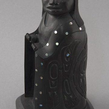 argillite northwest coast native art Haida eagle woman dancer
