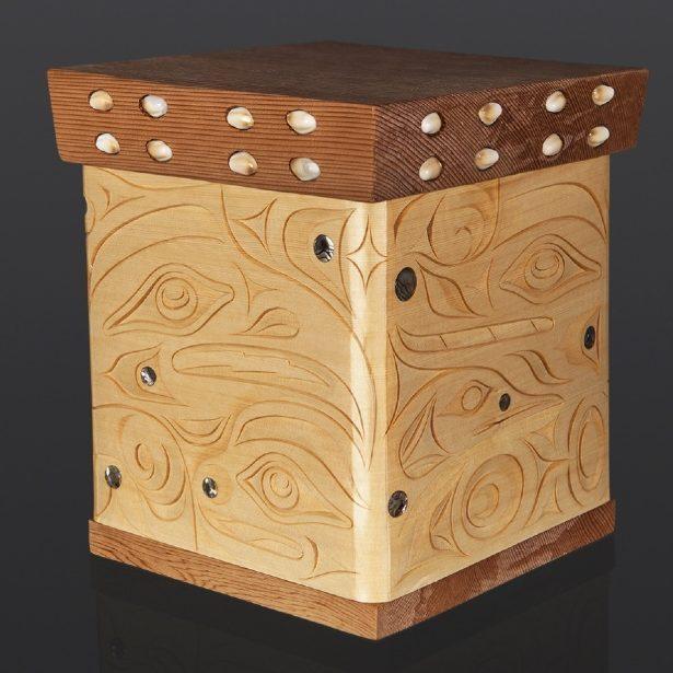 Joshua Prescott Cree Treasure Box Wolf Thunderbird Frog Loon Bentwood