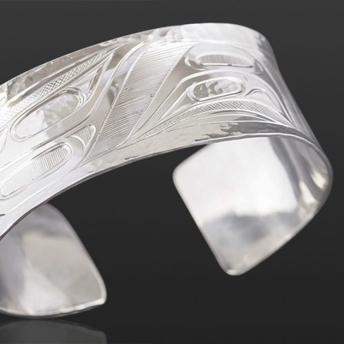 Waves bracelet Corrine Hunt Kwakwaka'wakw Silver 6 x 1 jewelry northwest coast native art
