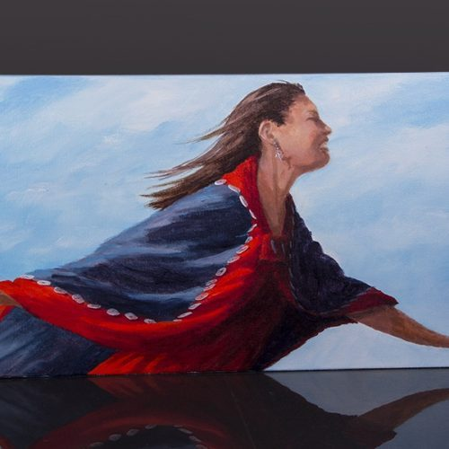 soaring in the dance jean Taylor Jean Taylor – Tlingit Painting on canvas northwest coast native art