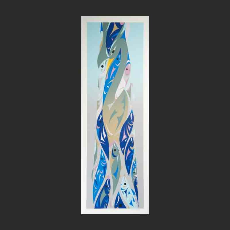 """Iona Beach Susan Point Limited Edition Serigraph 2012 32"""" x 12.5"""""""