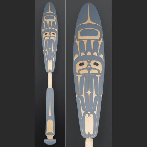 Dean Hunt Heiltsuk eagle paddle Yellow cedar paint 50 x 6 $1400