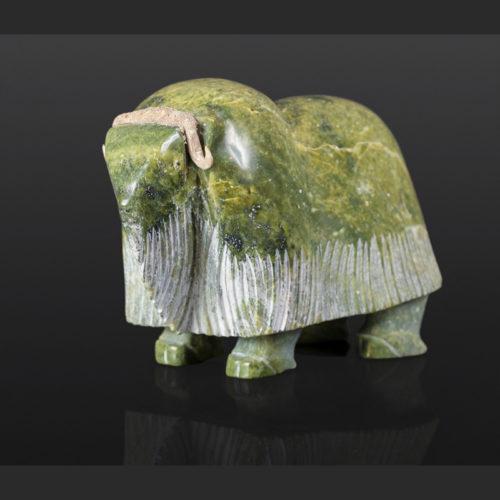 Muskox Ooloopie Killitee Inuit Serpentine Antler 6¾ x 9 x 3¼ $1200