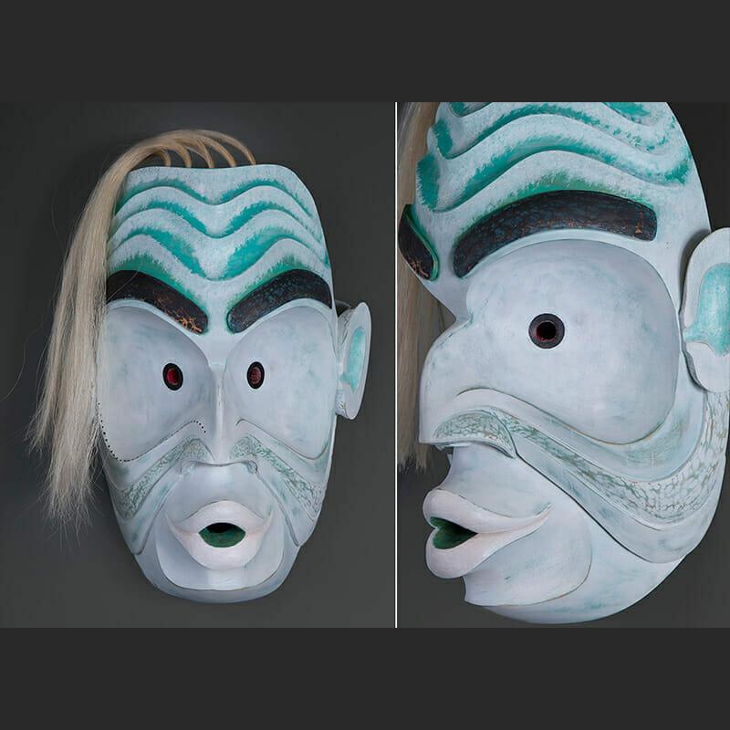 Pooq-Oobs Kelly Robinson Ahousat Alder horsehair paint 15 x 12 x 6 3200