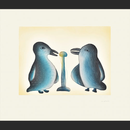 SONG BIRDS Cape Dorset Print Collection 2015 MALAIJA POOTOOGOOK Medium: Etching & Aquatint Paper: Arches White Printer: Studio PM Size: 21 ½ x 24 ¾ inches (54.5 x 63 cm) Price: $700