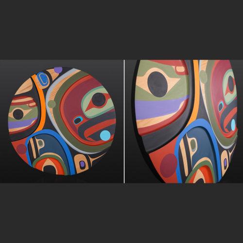 Steve Smith Nature of the World Dlakwagila Oweekeno carved panel 6400