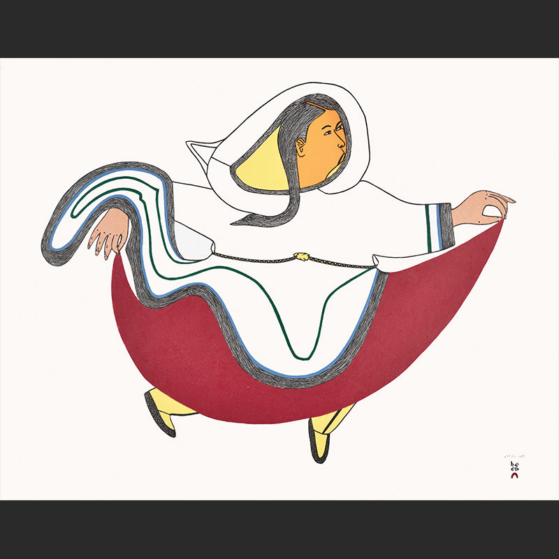 Tiptoe Through the Tundra Ningeokuluk Teevee cape dorset 2016 print collection inuit 640