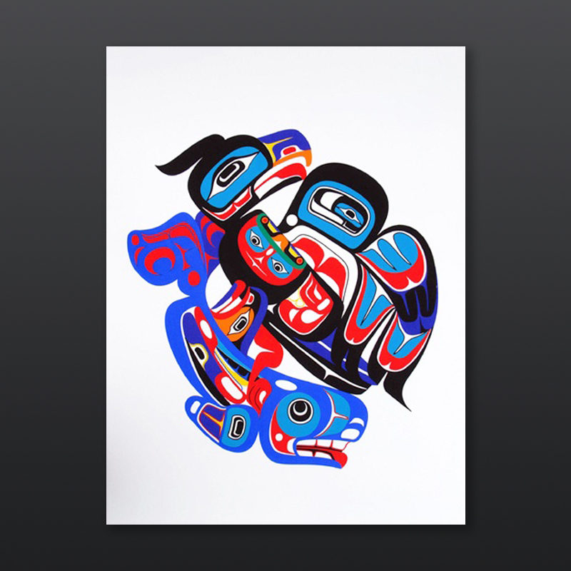 Marvin Oliver Sea and Sky Quinault & Isleta Pueblo Limited Edition Serigraph