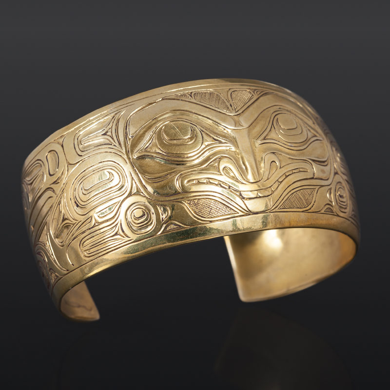 Brass Bracelet Joe Wilson Kwakwaka'kwakw northwest coast