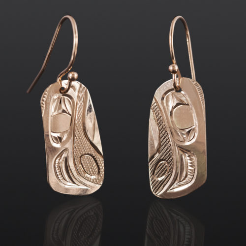 Eagle Earrings Corrine Hunt Kwakwaka'wakw 14k gold $450
