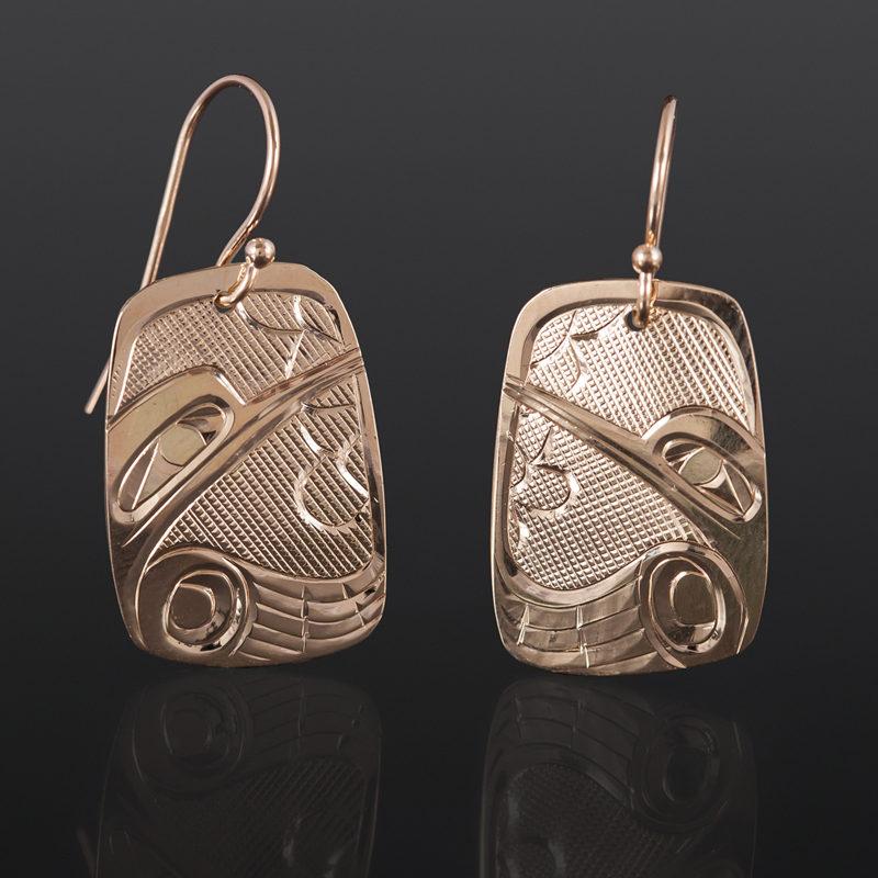 Hummingbird Earrings Corrine Hunt Kwakwaka'wakw 14k gold $525