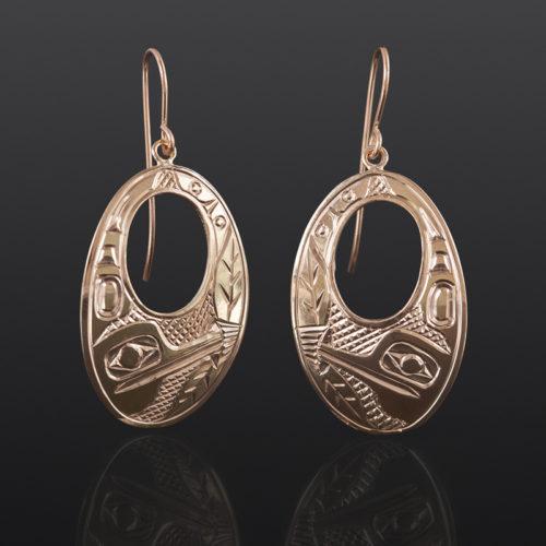Hummingbird Earrings Bill Bedard Haida 14k gold $995