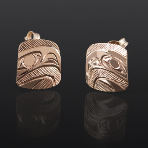 Eagle Post Corrine Hunt Kwakwaka'wakw 14k gold $285