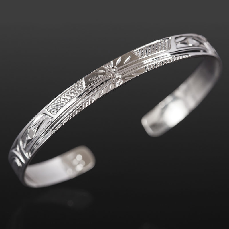 "Hummingbird Bracelet Bill Bedard Haida Silver 6"" x ¼"" $255"