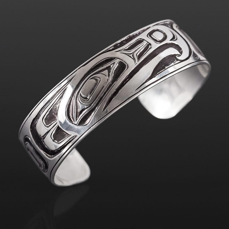 thunderbird bracelet Joe wilson kwakwaka'wakw silver $485 northwest coast jewelry